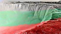 Ниагарският водопад ще изгрее в цветовете на българското знаме за 3 март