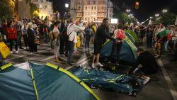 В 30-ия ден на протестите срещу мафията и Правителството на Борисов, Орлов мост отново е блокиран, палатки и пред Министерския съвет