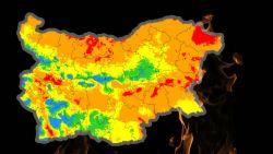 Опасност от пожари в 17 области на страната