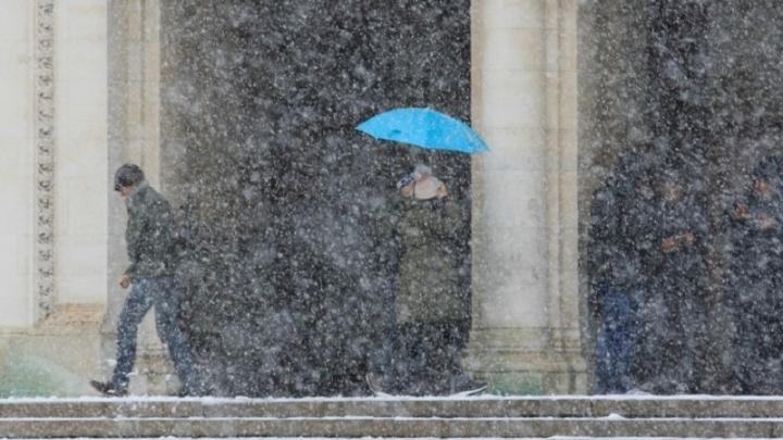 Дъждът преминава в сняг