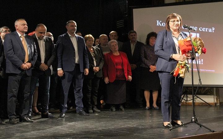 Корнелия Нинова в Хасково: Темата за чиста вода и въздух, чиста природа и храна става първостепенна