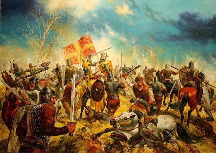 На 14 април 1205 г., цар Калоян разгромява край Адрианопол кръстоносците от Латинската империя, водени от Балдуин I