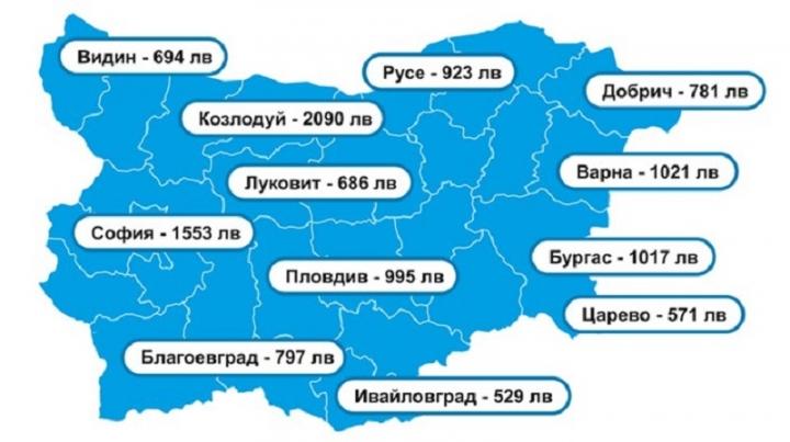 Къде в България хората взимат най-високите заплати?
