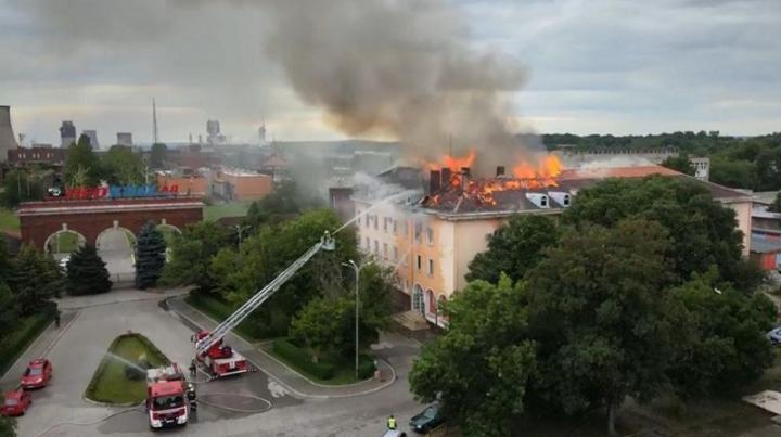 Пожар в химически завод в Димитровград